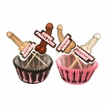 Penis Cupcake Wrappers and Toppers - 24