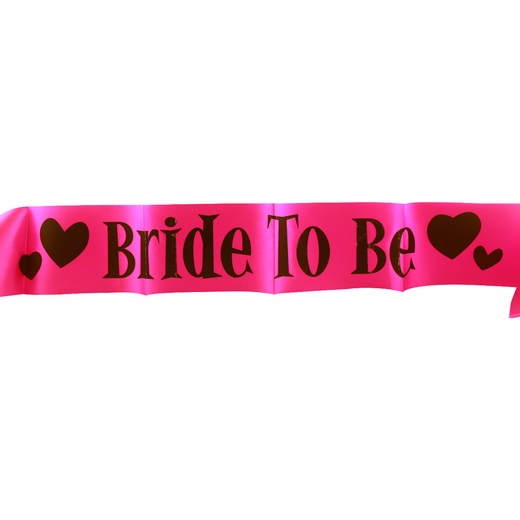 Pink and Black Bride to Be Sash