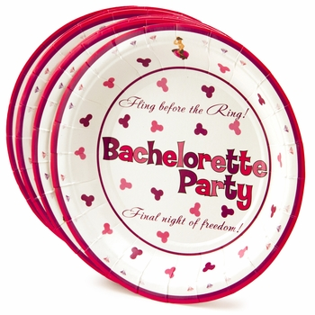 Pink and Purple Penis Party Dessert Plates - 10