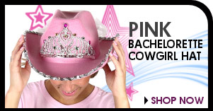 Pink Cowgirl Hat - With Veil - Clearance!