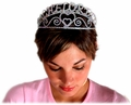 The stylish bachelorette party tiara that she is wearing is available here.