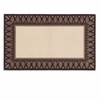 Textured Weave Eastly Leaf Hearth Rug