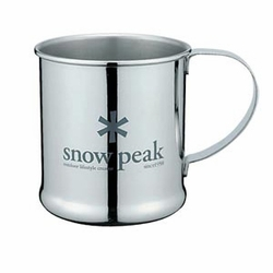 Click to enlarge image of Snow Peak Stainless Steel Single Wall Mug