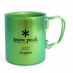 Click to enlarge image of Snow Peak Titanium 450 Double Wall Mug - Colors