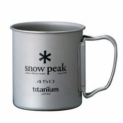 Click to enlarge image of Snow Peak Titanium 450 Single Wall Mug