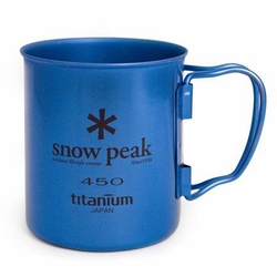 Click to enlarge image of Snow Peak Titanium 450 Single Wall Mug - Colors