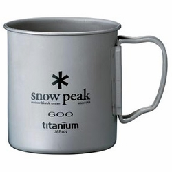 Click to enlarge image of Snow Peak Titanium 600 Single Wall Mug