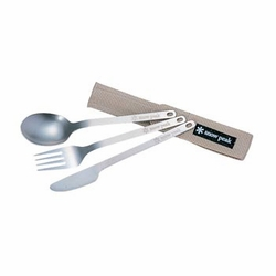 Click to enlarge image of Snow Peak Titanium Silverware - Full Set