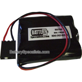 Battery Specialists 844A, 844, B9780 Alkaline Pack for Clock Memory Support