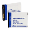 CASIO NP-80 replacement battery Empire BLI-365