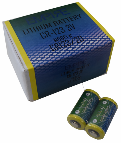Empire CR123 20-Pack, Replaces: DL123, 123, CR17345 Photo Lithium