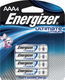Energizer L92BP-4-AAA  4-Pack, Lithium AAA L92 Energizer Lithium e2