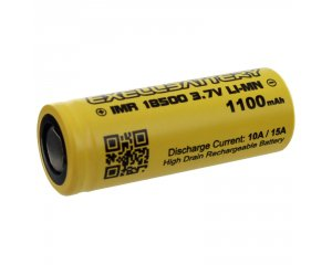 EXELL BATTERY EBLI-18500HP11, 15AMP Rechargeable Flat Top Battery IMR LiMN
