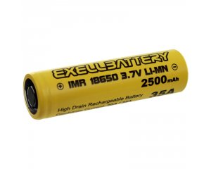 EXELL BATTERY EBLI-18650HP25, 35AMP Rechargeable Flat Top Battery IMR LiMN