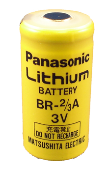 Panasonic BR-2/3A Lithium Battery with 3-Pin (2-pin [+] 10mm), 2/3A-Size 3 Volts