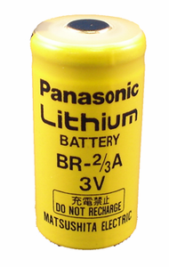Panasonic BR-2/3A Lithium Battery Button Top, 2/3A-Size 3 Volts