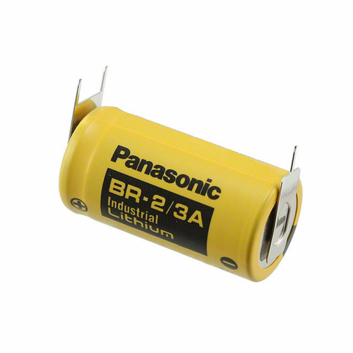 Panasonic BR-2/3A Lithium Battery with 3-Pin (2-pin [+] 8mm), 2/3A-Size 3 Volts