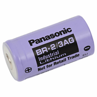 Panasonic BR-2/3AG Lithium Battery Button Top, 2/3A-Size 3 Volts