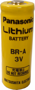 Panasonic BR-A Lithium Battery Button Top, A-Size 3 Volts