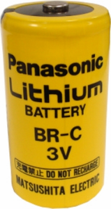 Panasonic BR-C Lithium Battery Button Top, C-Size 3 Volts