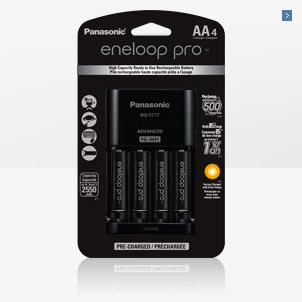 Panasonic Eneloop PRO 4-Position Charger with AA 4-Pk