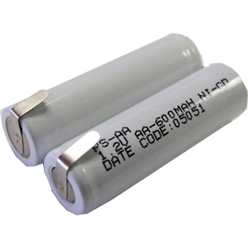 Battery Specialists 2/PSAA-RZR, 2.4V 600mAh Electric Shaver / Razor