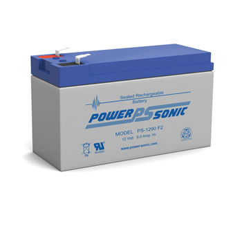 POWER-SONIC PS-1290 F2 12-Volt 9-AH Sealed Lead-Acid (AGM)