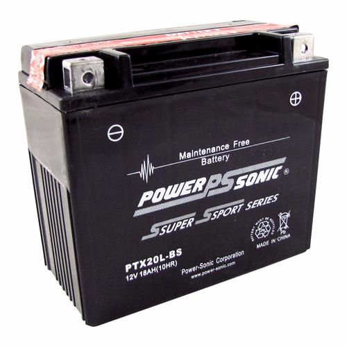 Power-Sonic PTX20L-BS 12-Volts 210-CCA