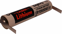 Sanyo / FDK CR12600SE Lithium Battery with Solder Tabs, 12600-Size 3 Volts