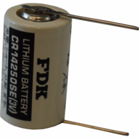 Sanyo / FDK CR14250SE, , CR14250SET-P1 Lithium Battery with Solder Pins, 1/2AA-Size 3 Volts