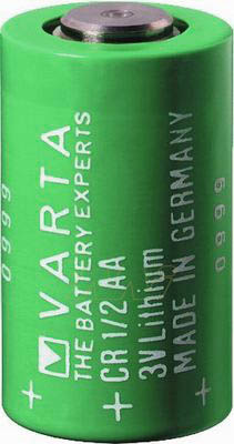 Varta CR1/2AA Lithium Battery with 3-Pin (2-pin [-] 8mm), 1/2AA-Size 3 Volts