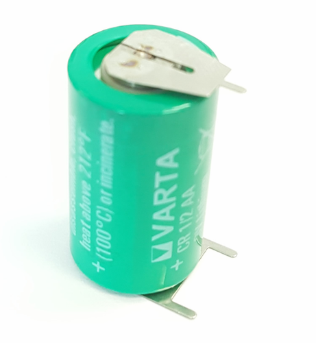 Varta CR1/2AA Lithium Battery with 3-Pin (2-pin [+] 10mm), 1/2AA-Size 3 Volts