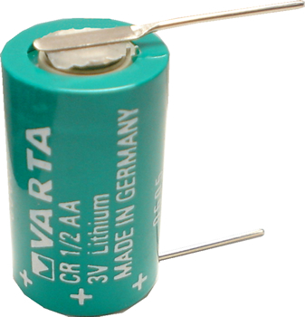 Varta CR1/2AA Lithium Battery with Solder Pins, 1/2AA-Size 3 Volts