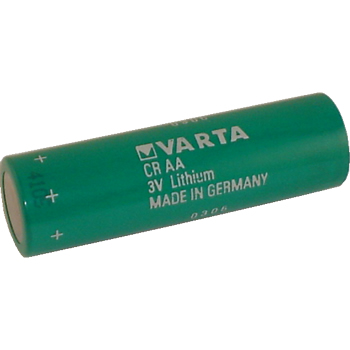 Varta CRAA Lithium Battery with 3-Pin (2-pin [-] 10mm), AA-Size 3 Volts