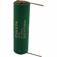 Varta CRAA Lithium Battery with Solder Pins, AA-Size 3 Volts