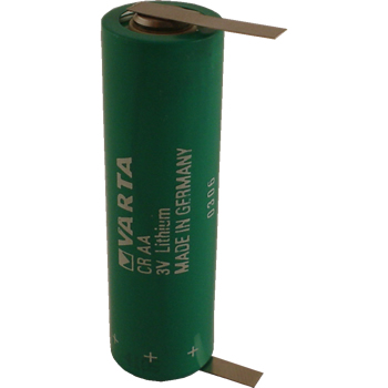 Varta CRAA Lithium Battery with Solder Tabs, AA-Size 3 Volts