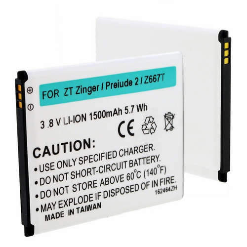ZTE Li3815T43P3H6151421 Cell Phone Battery For PRELUDE 2, ZINGER
