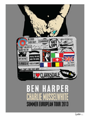 Ben Harper and Charlie Musselwhite European Summer Tour 2013 Poster
