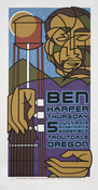 Ben Harper Edgefield Troutdale, OR 7.5.2012 Tour Poster