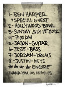 Ben Harper Hollywood Bowl 07.01.12 Poster
