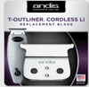 Andis 04535 Cordless T-Outliner Li Replacement T-Blade