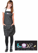 """Betty Dain 281 Embroidered """"Love"""" Stylist Apron"""