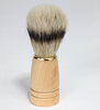 Kingsley bristle shave brush-natural wood handle
