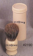 Col. Conk Pure Badger Travel Brush w/ travel case-made in UK