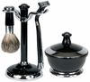 Kingsley sb651 4 piece shave set - black/chrome