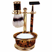 "Kingsley sb660 4 pc shave set ""tortoise""-Discontinued-*All Sales Final*(No Returns/Exchange)"