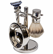 Kingsley sb670 4 pc shave set silver plated