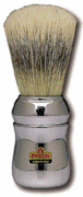 Marvy  No. 4 Omega Silver Handle Shaving Brush-Made In Italy.
