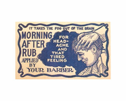 Morning  after rub sign