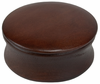 Kingsley shave  soap bowl with lid-dark wood